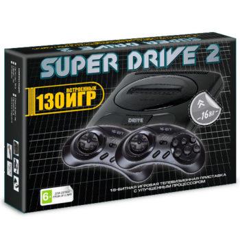 Игровая приставка  Super Drive 2 Classic (130-in-1) Black.