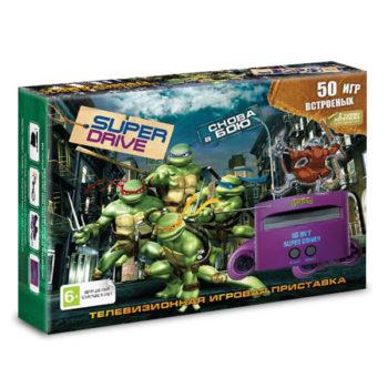 Игровая приставка  Super Drive «Turtles» + 50 игр